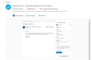 MeisterTask Add-in für Outlook