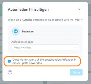 Automationen hinzufügen