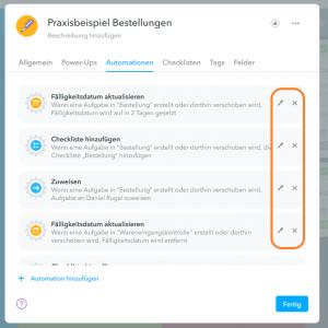 Automationen in MeisterTask