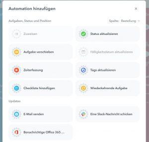 Die Automationen in MeisterTask