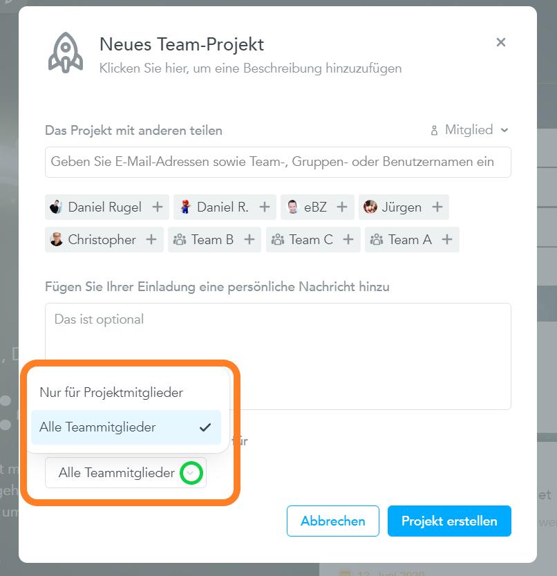 Team-Projekte